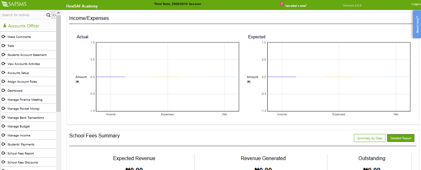 Income and expense reports