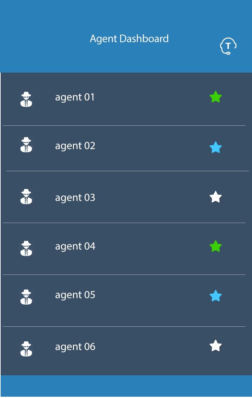 Agent dashboard