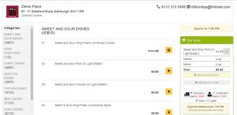 Browser-based order