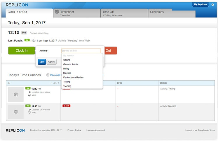 Configurable employee timesheets