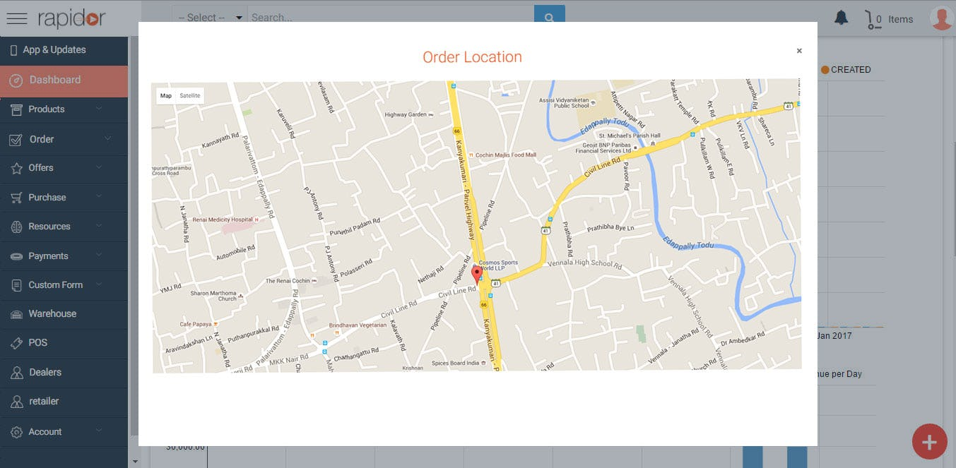 rapidor - Location tracking