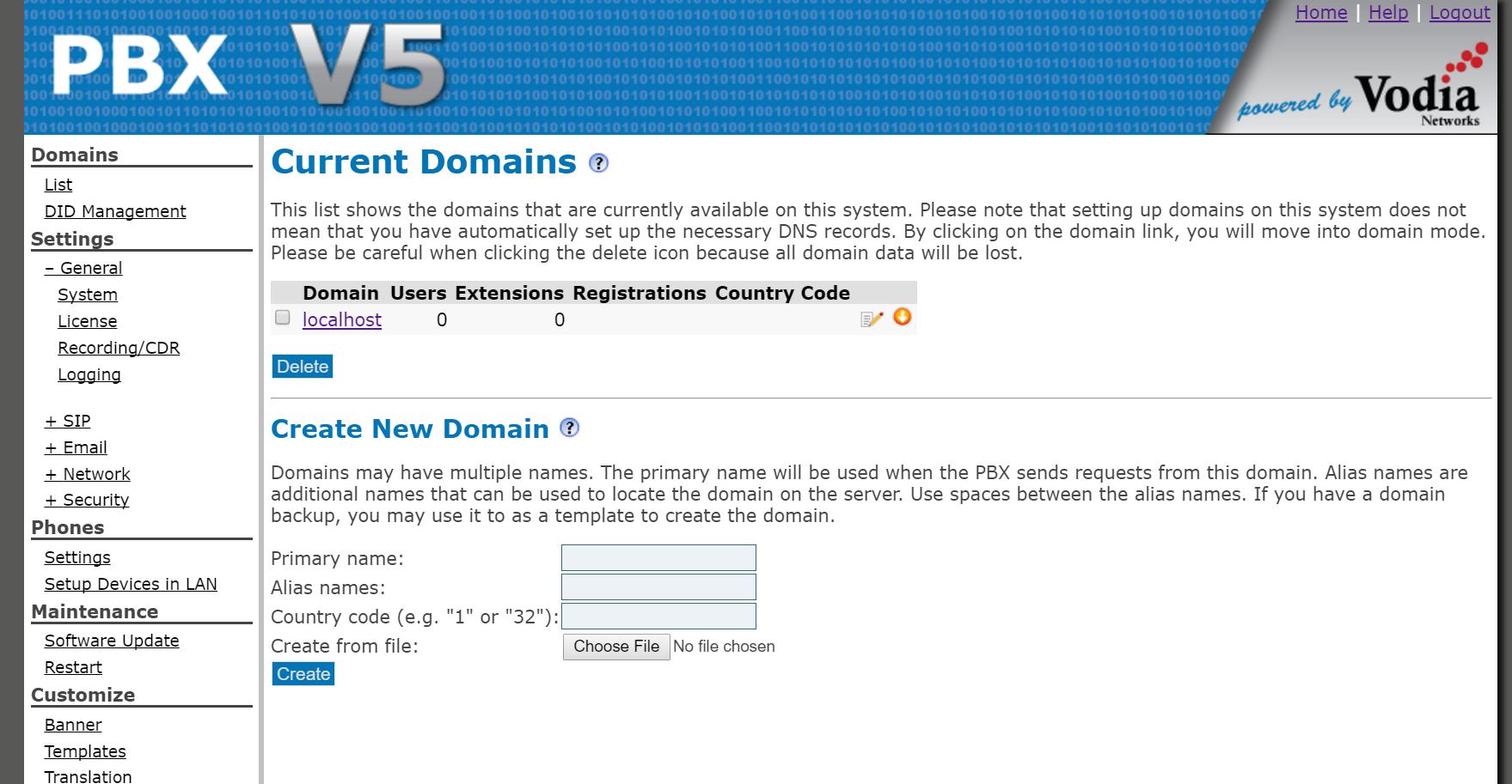 Current domains