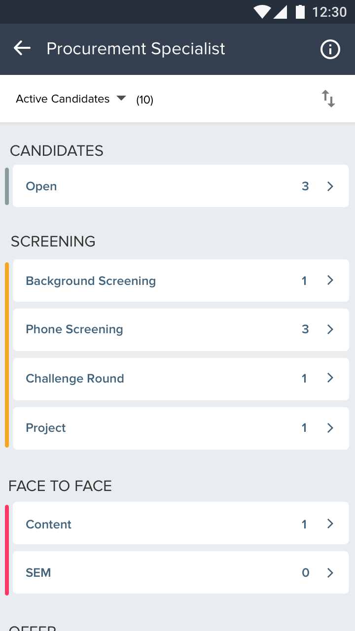 Mobile screening