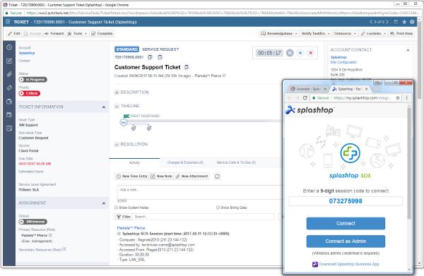 Splashtop Business Access autotask integration