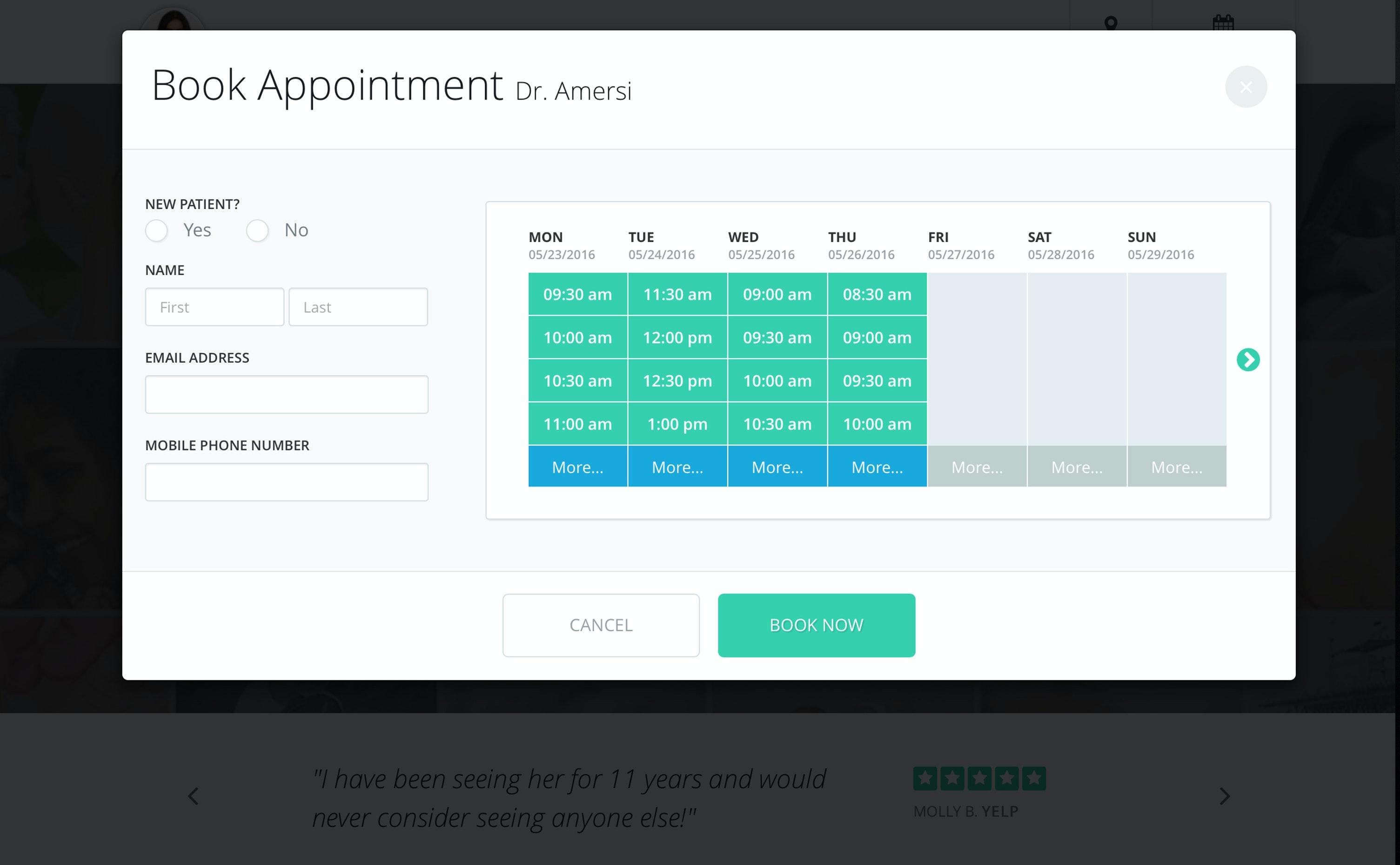 PatientPop - Book appointments