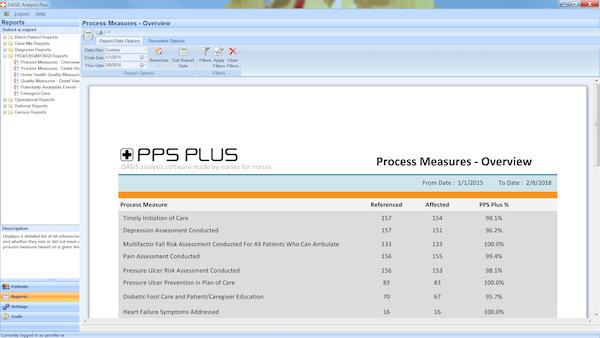 OASIS Analysis Plus Software