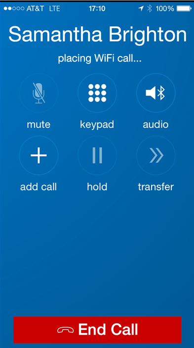 Mobile call screen