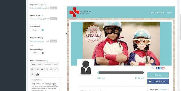 Configure campaign page