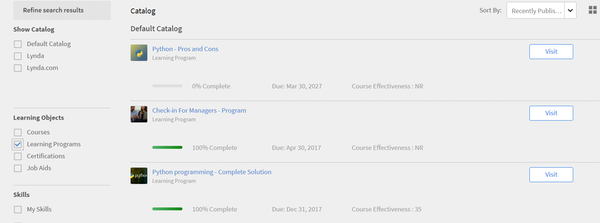 Adobe Captivate Prime - Learning programs