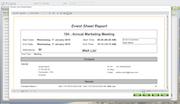 Event sheet report