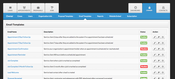 Fully customizable email campaigns