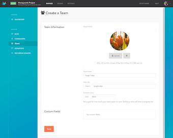 Create teams