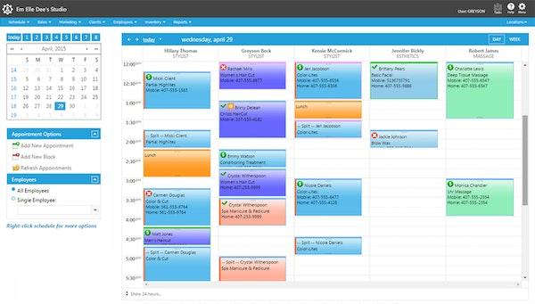 Envision MedSpa calendar
