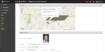 Customer location map