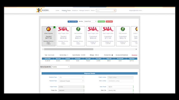Kuebix TMS Software - 2019 Reviews, Pricing & Demo
