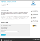Online rental application
