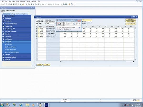 SAP S/4HANA - Forecasts