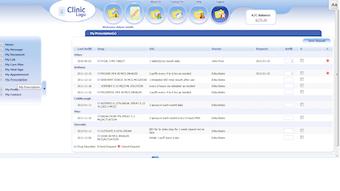 Prescriptions in patient portal
