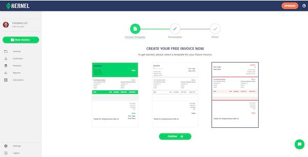 Kernel create invoices
