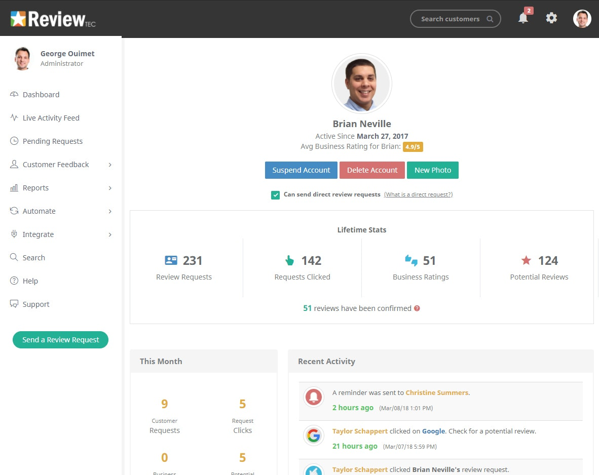 Reviewer profile