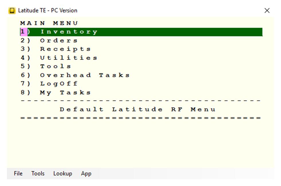 Latitude WMS - Latitude TE - PC version