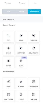 Sleeknote layout elements