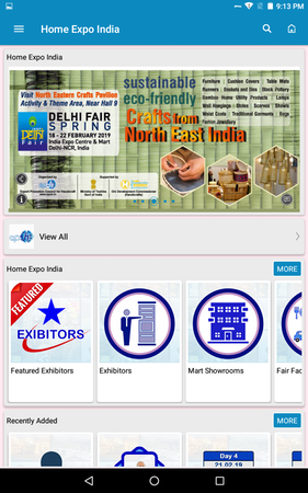 VirtuPaper event catalog screenshot