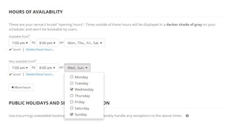 Hours of availability