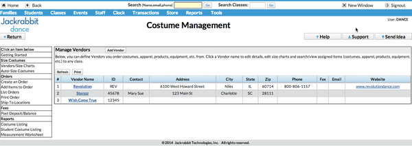 Costume management
