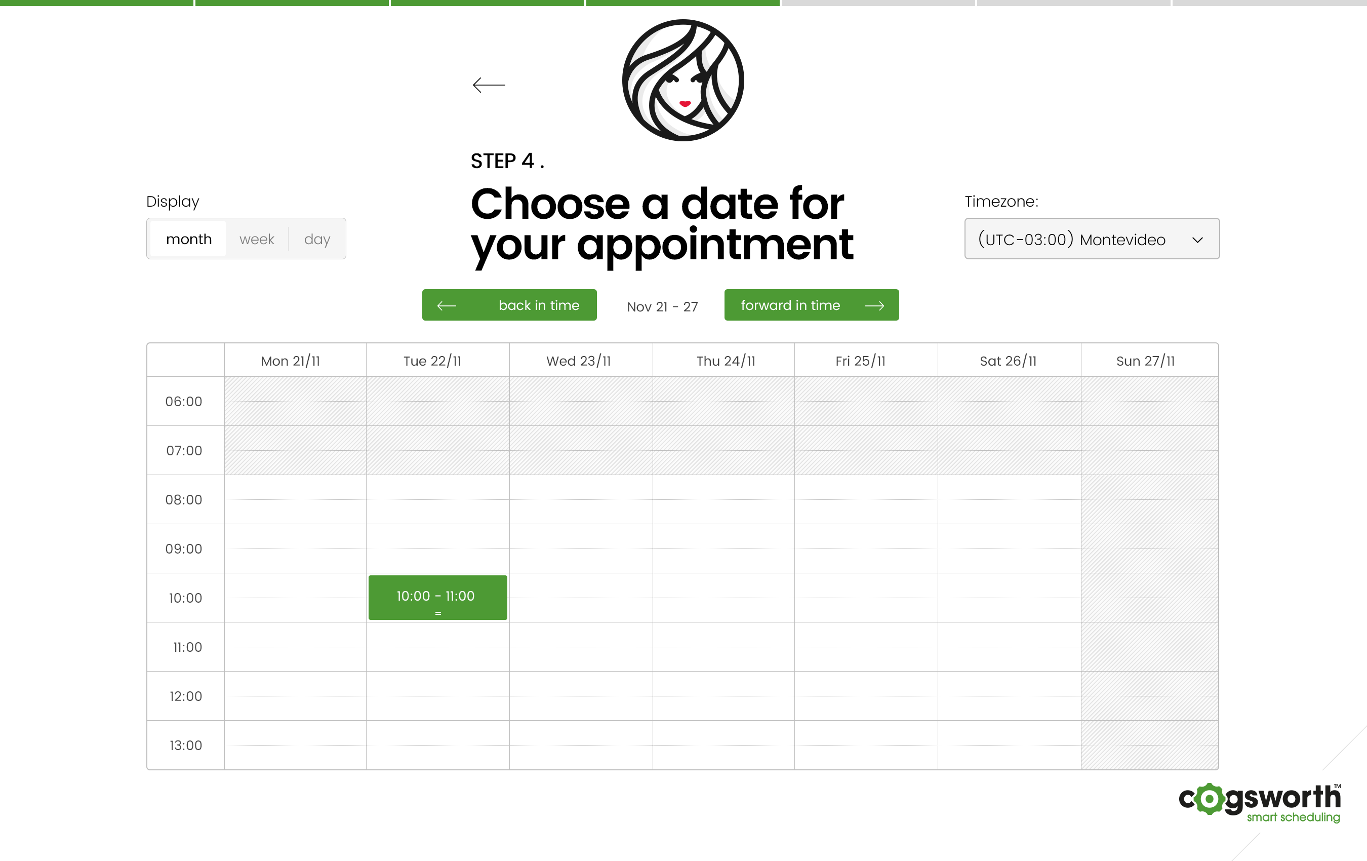 Choose appointment date
