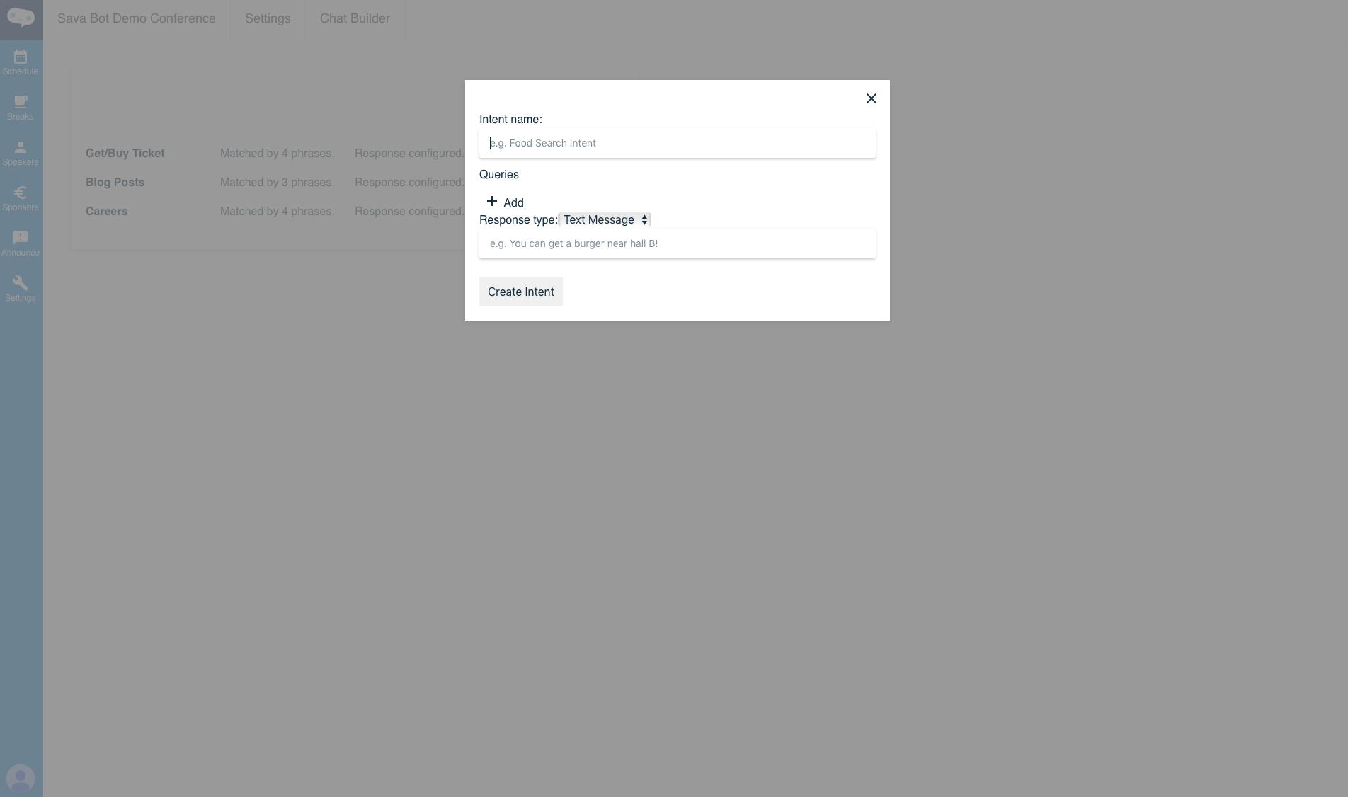 Chatbot settings
