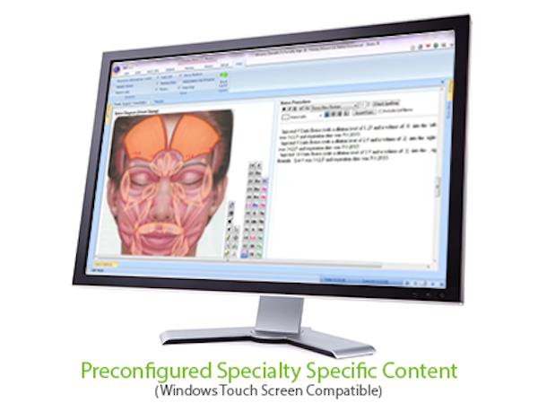 Preconfigured specialty specific content