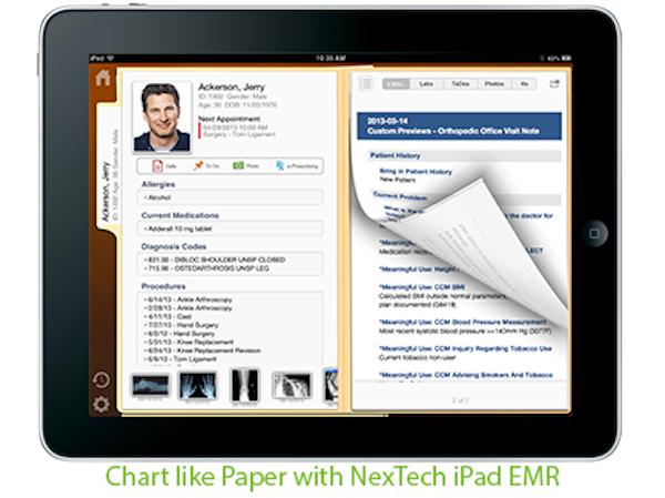 NexTech iPad EMR