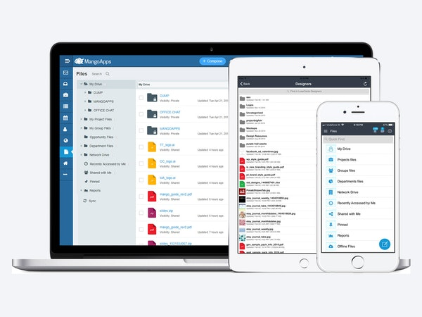 MangoApps knowledge management screenshot