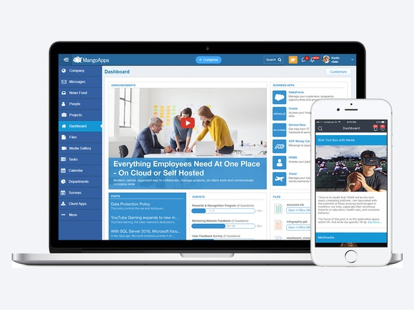 MangoApps main dashboard screenshot