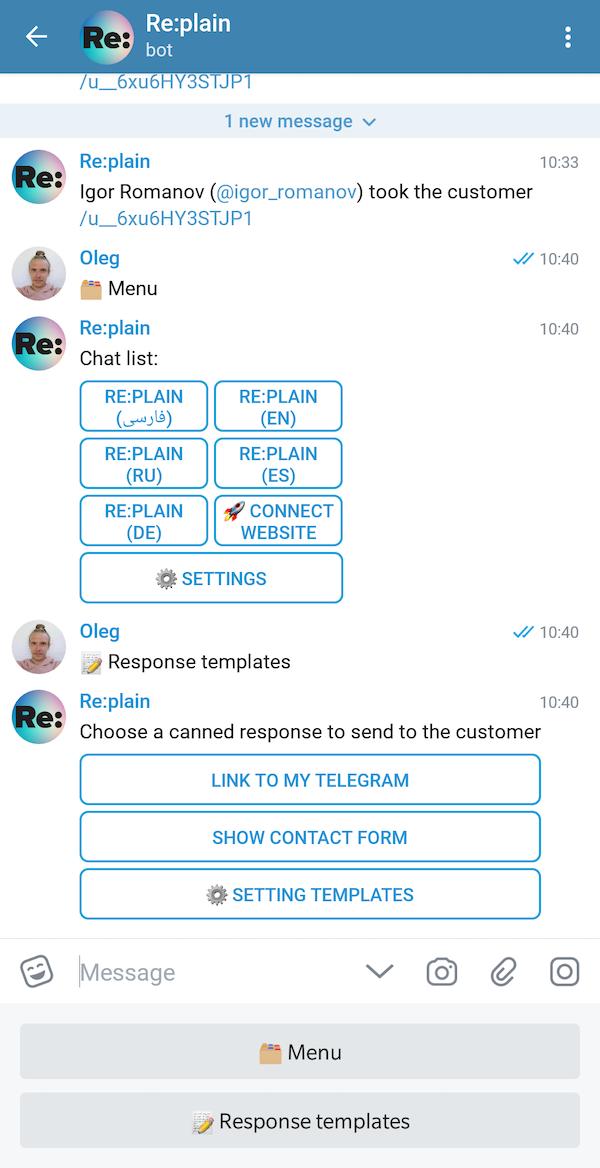 Select responses