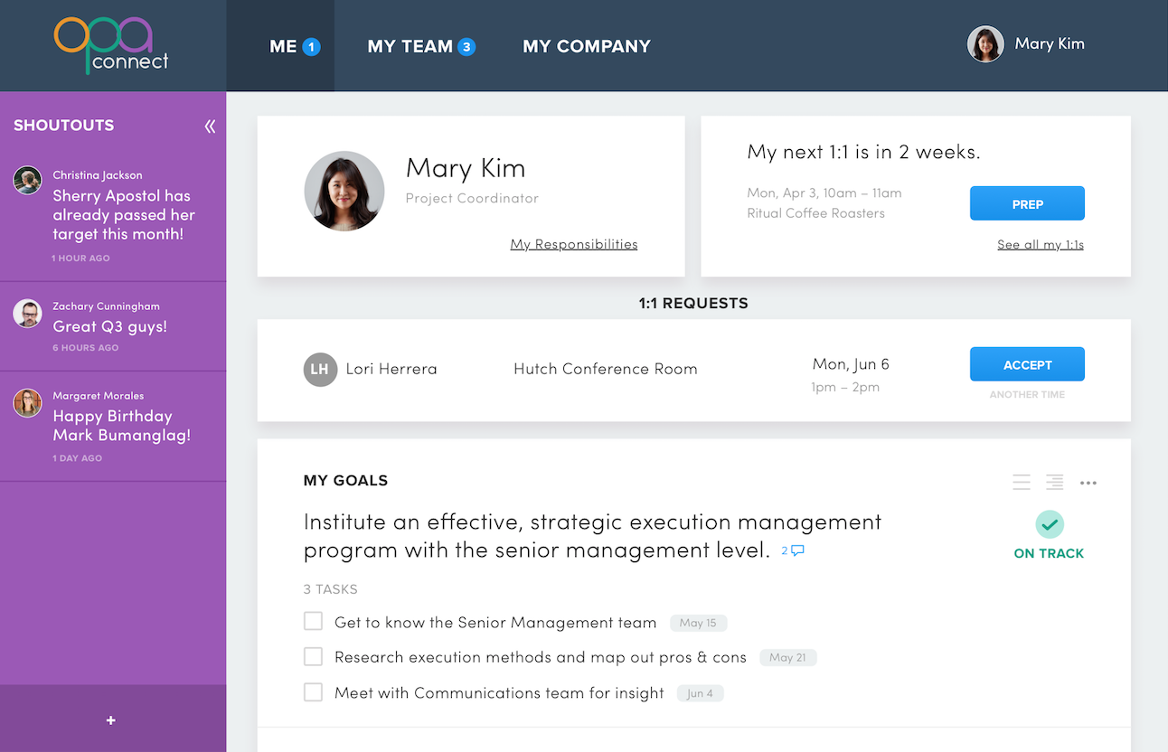 Employee dashboard