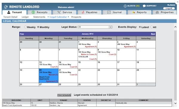 Legal calendar