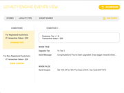 Loyalty+ events view
