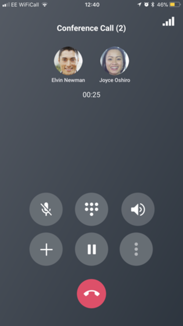 Conference Call on mobile