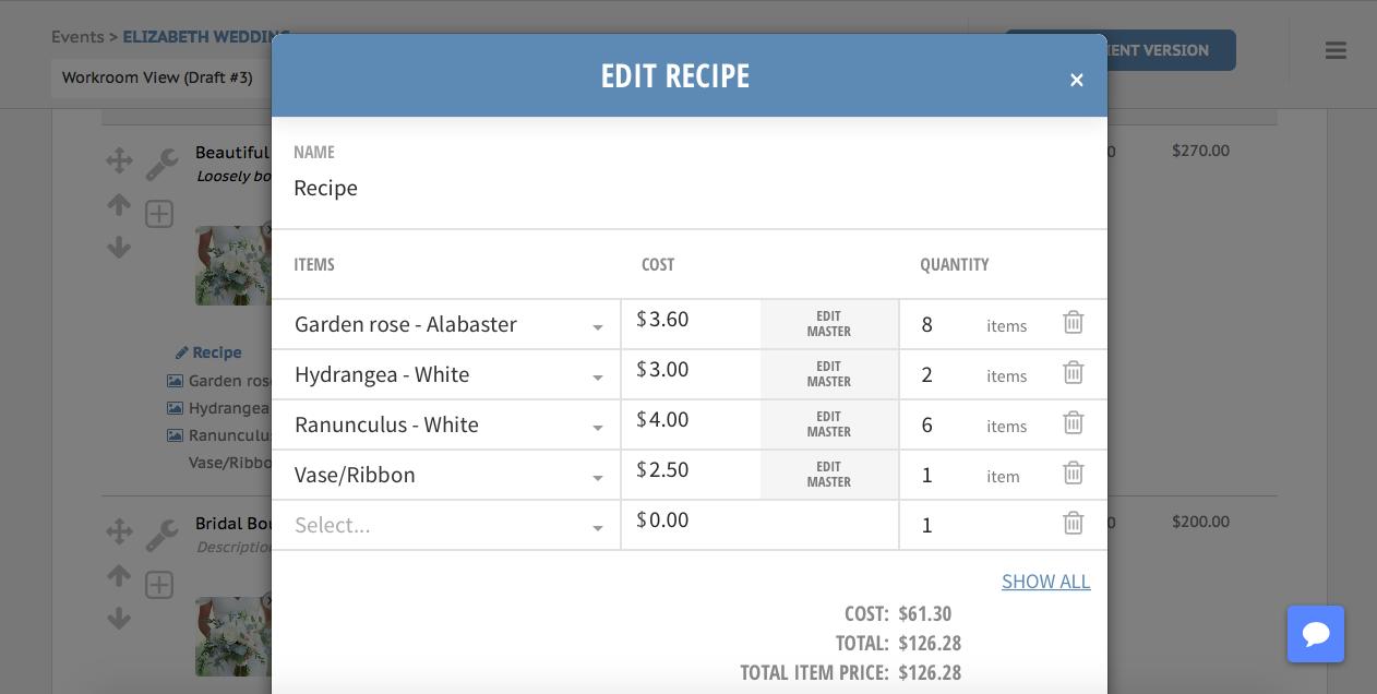 Edit recipe