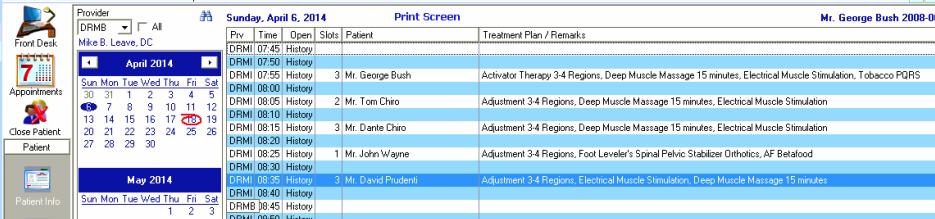 ChiroSuiteEHR - Print screen
