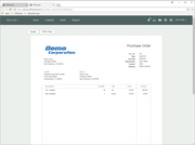 Spendwise - Purchase order - print preview