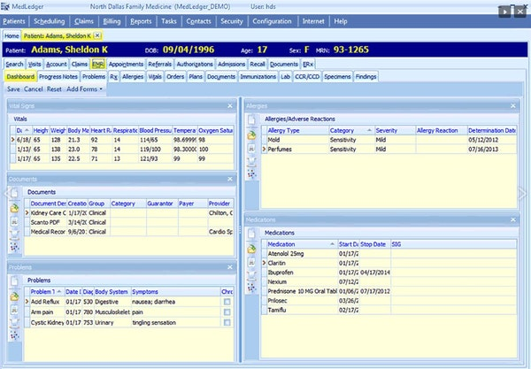 EHR Dashboard
