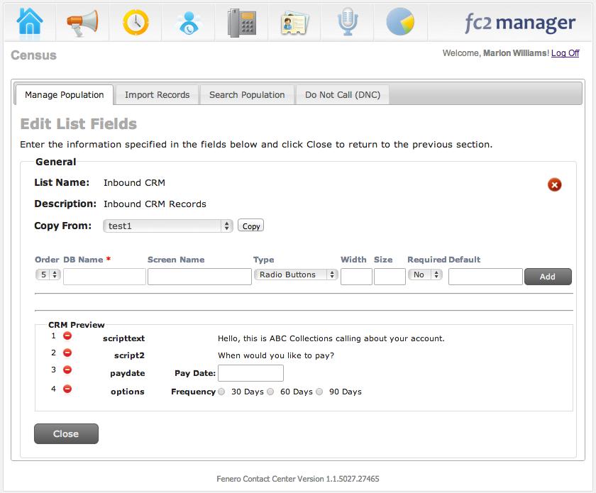 Edit list fields