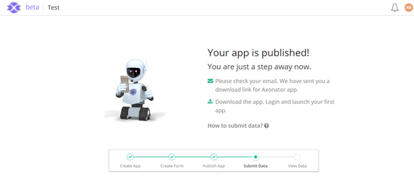 Axonator download through email