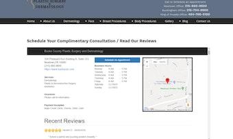 Online scheduling & website reviews