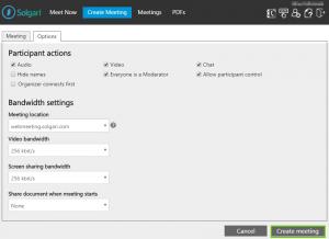 Webmeeting Options