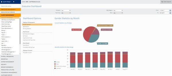 Client management dashboard