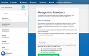 FluentStream VoIP - Manage auto attendants